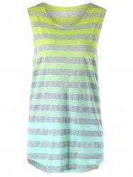 Sleeveless Ombre Striped T-shirt