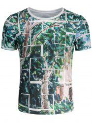 Short Sleeves Tree Painting T-shirt