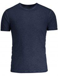 V Neck Short Sleeves Basic Tee