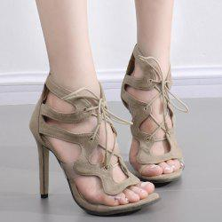 Tie Up Transparent Plastic Sandals -