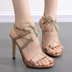 Tie Up Metallic Colour Sandals