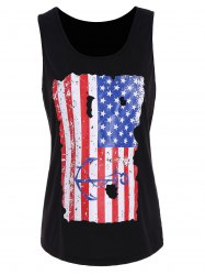 Distressed USA Flag Punk Tank Top