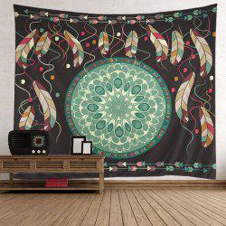 Home Decor Mandala Feather Arrows Print Tapestry - Coloré