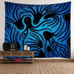 Home Decor Octopus Wall Hanging Tapestry - Bleu
