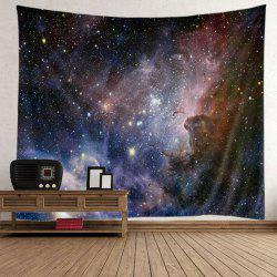 Home Decor Wall Hanging Night Sky Tapestry - BLUE AND BLACK