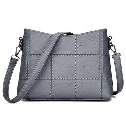 Stitching Faux Leather Crossbody Bag