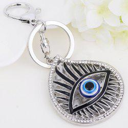 Rhinestone Embellished Eye Pattern Alloy Keyring