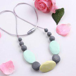 Silicone Rope Oval Beaded Necklace