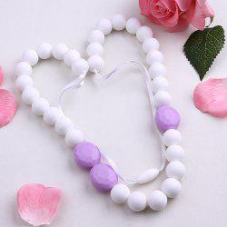 Oval Silicone Beaded Necklace