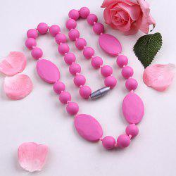 Embellished Silicone Oval Beaded Necklace