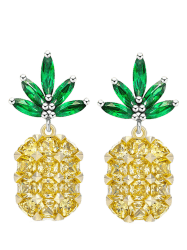 Cute Rhinestone Pineapple Earrings