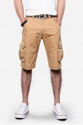 Pockets Design Straight Leg Cargo Shorts
