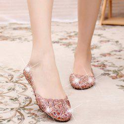 Flat Heel Hollow Out Sandals
