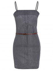 Self Tie Gingham Slip Dress