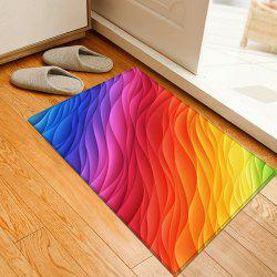Ombre Colorful Water Absorption Flannel Area Rug