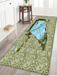 Floor 3D Art Pattern Water Absorption Flannel Area Rug