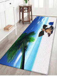 Elephant Beach Holiday Pattern Water Absorption Flannel Area Rug