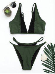 Mesh Insert High Cut Bikini Set