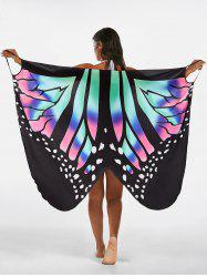 Butterfly Beach Wrap Cover Up Dress - Multicolore