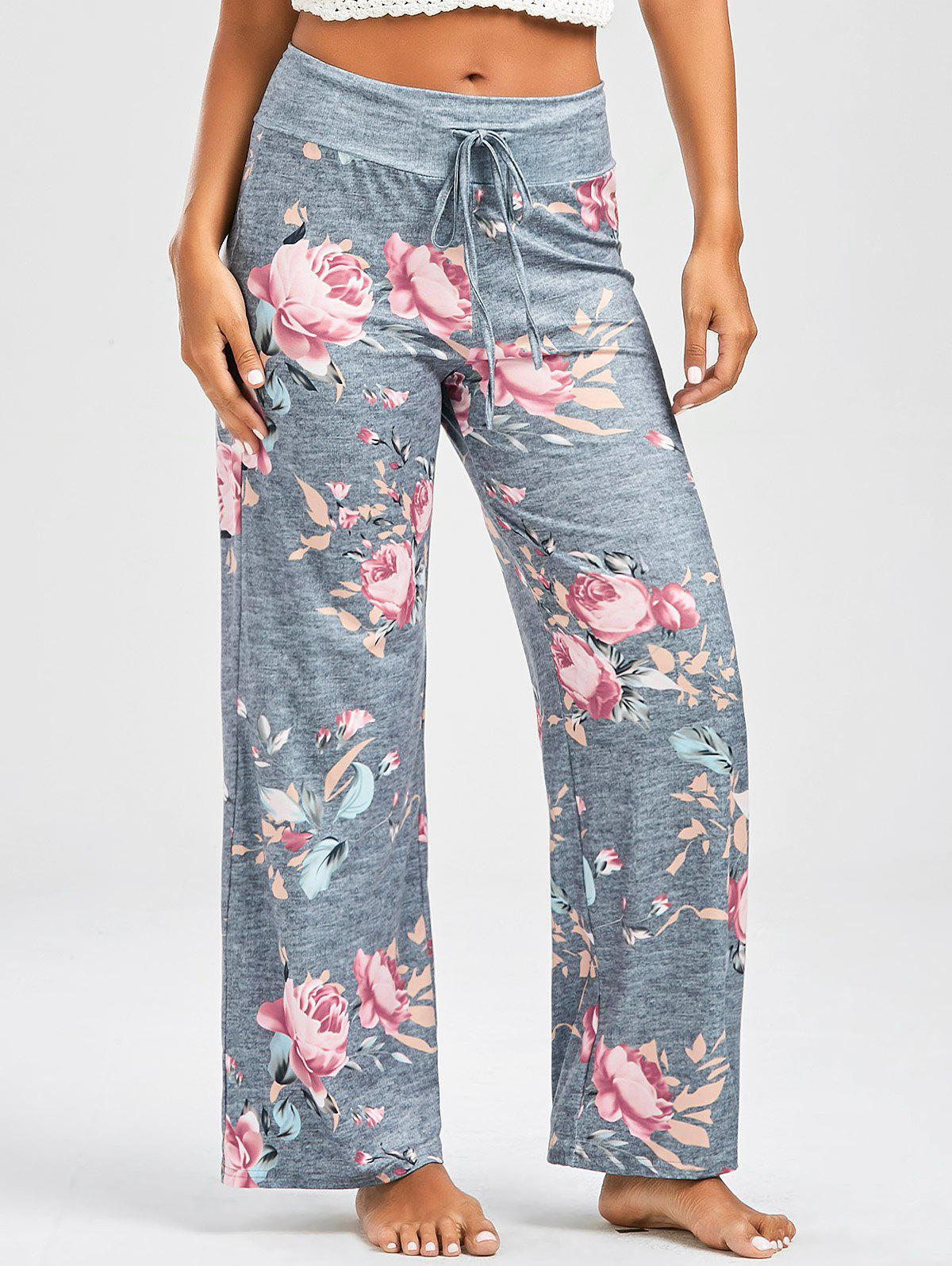 Best Floral Print Casual Drawstring Pants