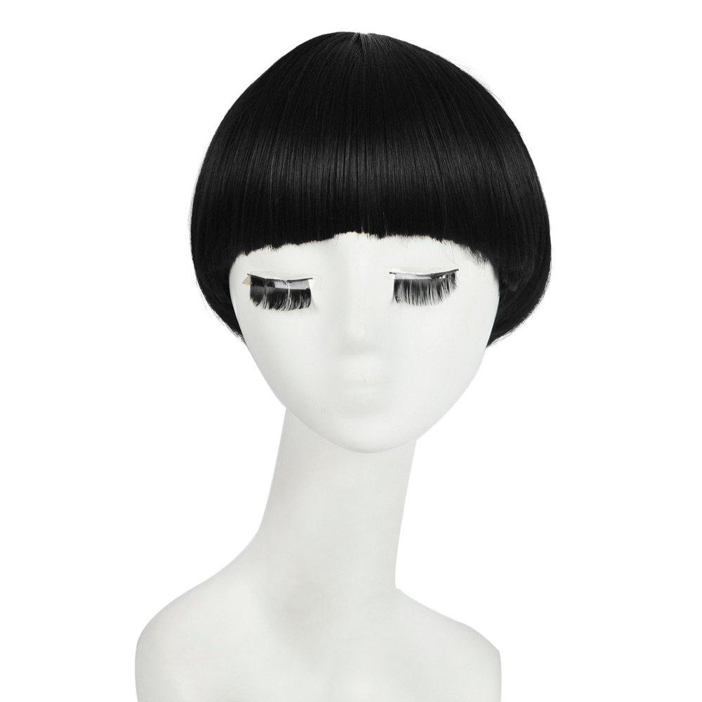 2018 Neat Bang Short Straight Bowl Cut Mushroom Head Synthetic Wig