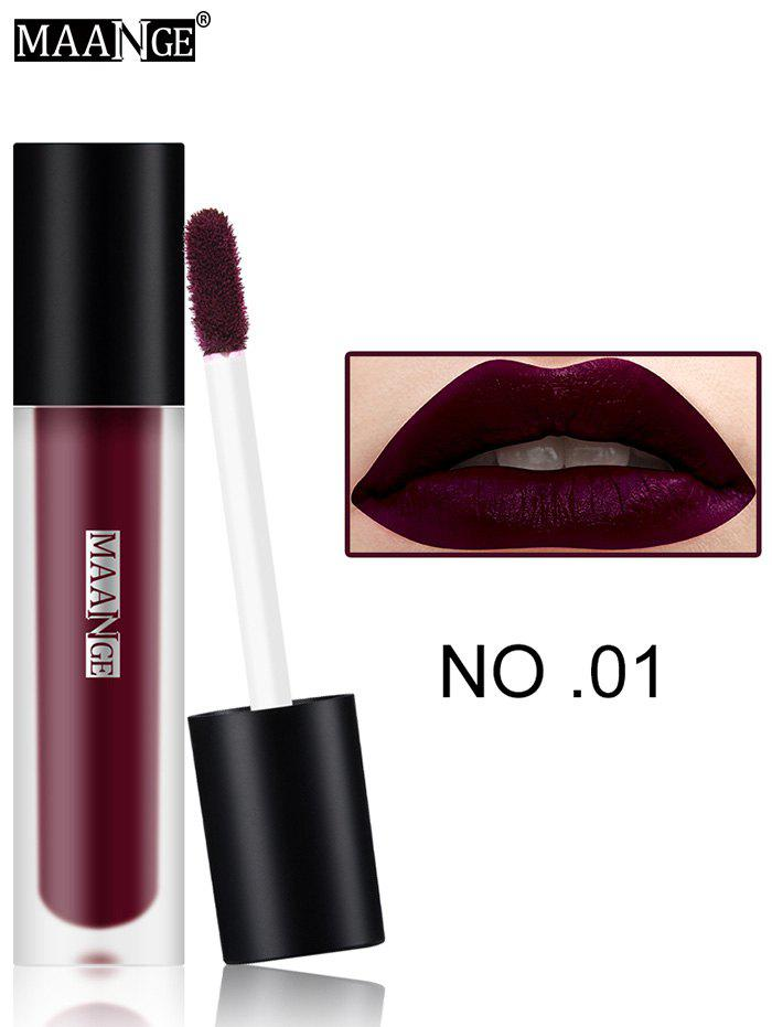 Moisturizing Long Wear Matte Lip GlazeBEAUTY<br><br>Color: #01; Category: Lip Gloss; Type: Cream; Features: Limits Bacteria; Season: Fall,Spring,Summer,Winter; Weight: 0.0300kg; Package Contents: 1 x Lip Gloss;