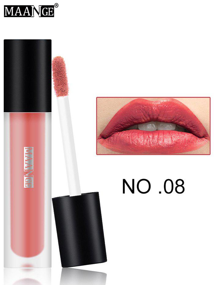 Moisturizing Long Wear Matte Lip GlazeBEAUTY<br><br>Color: #08; Category: Lip Gloss; Type: Cream; Features: Limits Bacteria; Season: Fall,Spring,Summer,Winter; Weight: 0.0300kg; Package Contents: 1 x Lip Gloss;