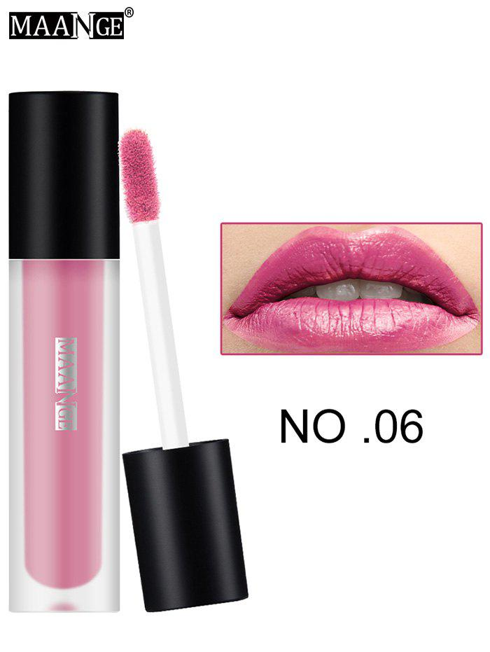 Moisturizing Long Wear Matte Lip GlazeBEAUTY<br><br>Color: #06; Category: Lip Gloss; Type: Cream; Features: Limits Bacteria; Season: Fall,Spring,Summer,Winter; Weight: 0.0300kg; Package Contents: 1 x Lip Gloss;