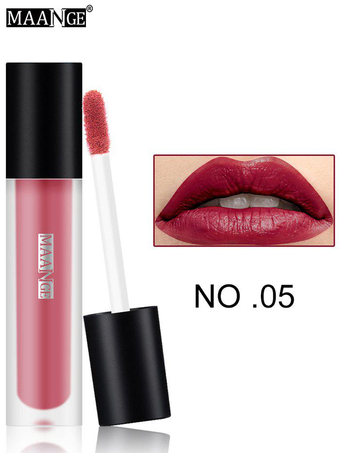 Moisturizing Long Wear Matte Lip GlazeBEAUTY<br><br>Color: #05; Category: Lip Gloss; Type: Cream; Features: Limits Bacteria; Season: Fall,Spring,Summer,Winter; Weight: 0.0300kg; Package Contents: 1 x Lip Gloss;