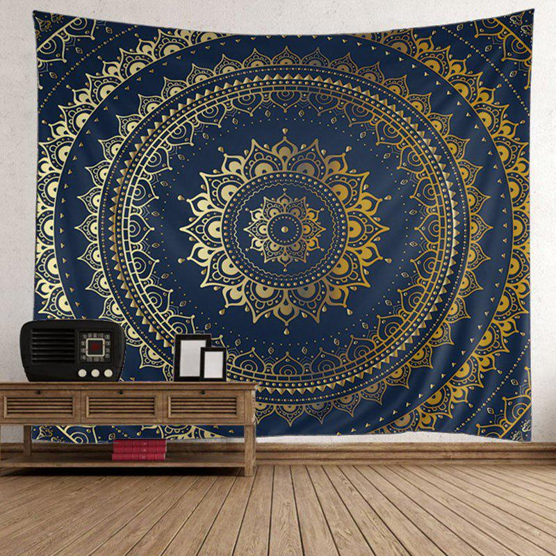 Boho Mandala Print Tapestry Wall Hanging Art DecorHOME<br><br>Size: W51 INCH * L59 INCH; Color: PURPLISH BLUE; Products Type: Wall Tapestry; Style: Bohemian; Package Contents: 1 x Tapestry;