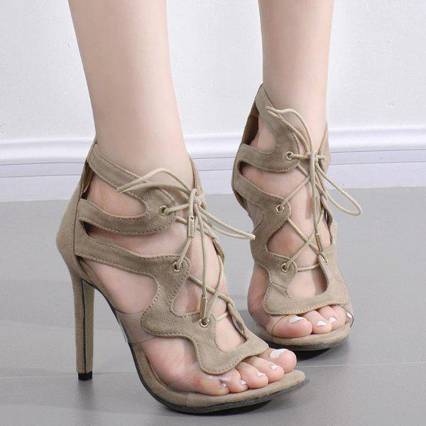 Unique Tie Up Transparent Plastic Sandals