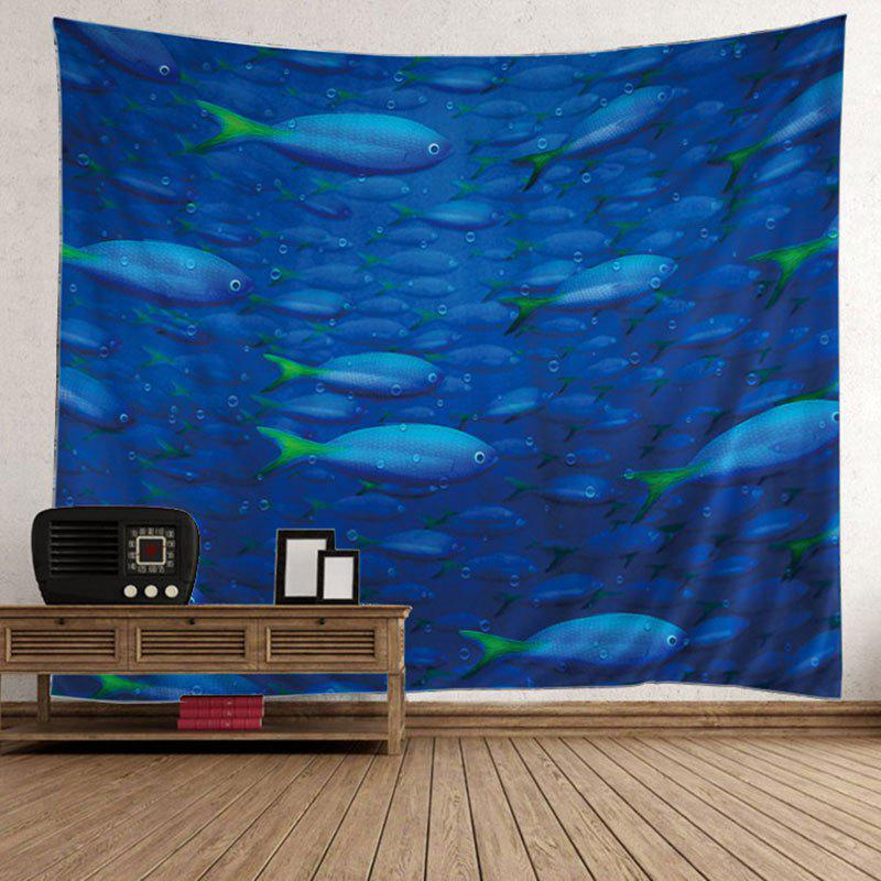 Online Ocean Fish Printed Decorative Wall Hanging Tapestry