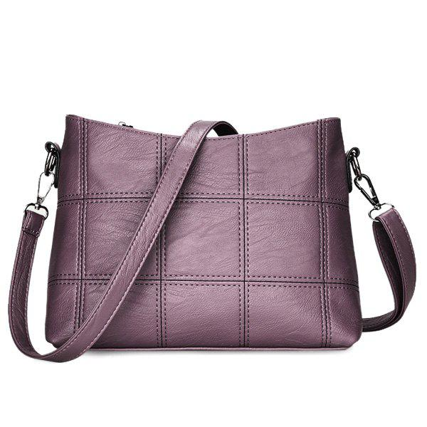Latest Stitching Faux Leather Crossbody Bag