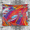 Wall Hanging Decoration Feather Print Fabric Tapestry -