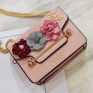 Flowers Cross Body Chain Bag -