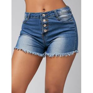 Skinny High Waisted Mini Denim Shorts