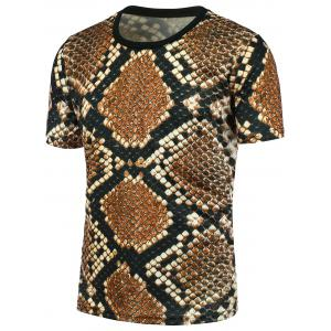3D Leopard Print Short Sleeves T-shirt