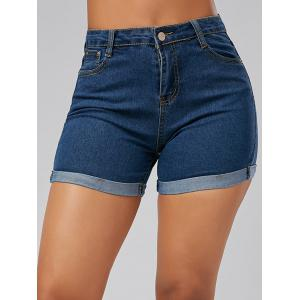 High Waisted Skinny Mini Denim Shorts