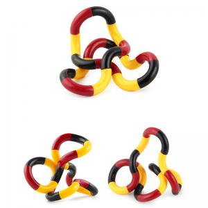 Fidget Twist Tangle Toy Stress Reliever - Jaune et Rouge