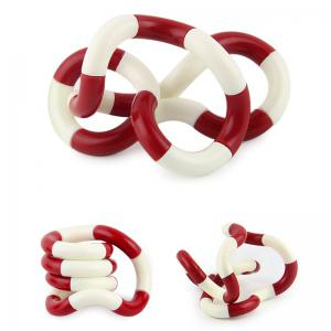 Fidget Twist Tangle Toy Stress Reliever - RED WITH WHITE