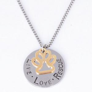 Engraved Love Live Rescue Footprint Necklace