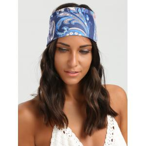 Wide Elastic Ethnic Flower Pattern Headband