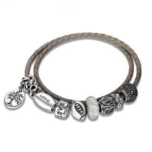 Engraved Tree of Life Love Charm Bracelet