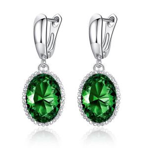Faux Diamond Platinum Plated Earrings