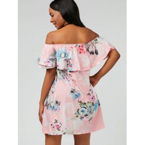 Ruffle Floral Off The Shoulder Dress -