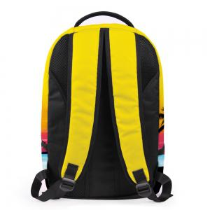 Palm Print Padded Strap Backpack -
