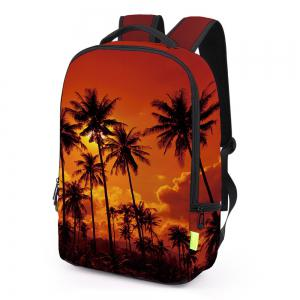 Palm Print Padded Strap Backapck - JACINTH