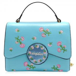 Embroidery Flapped Chain Handbag