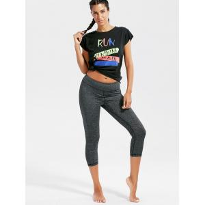 Active Letter Graphic Running T-shirt -