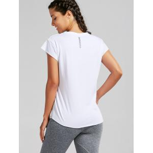 Active Letter Graphic Running T-shirt - WHITE ONE SIZE